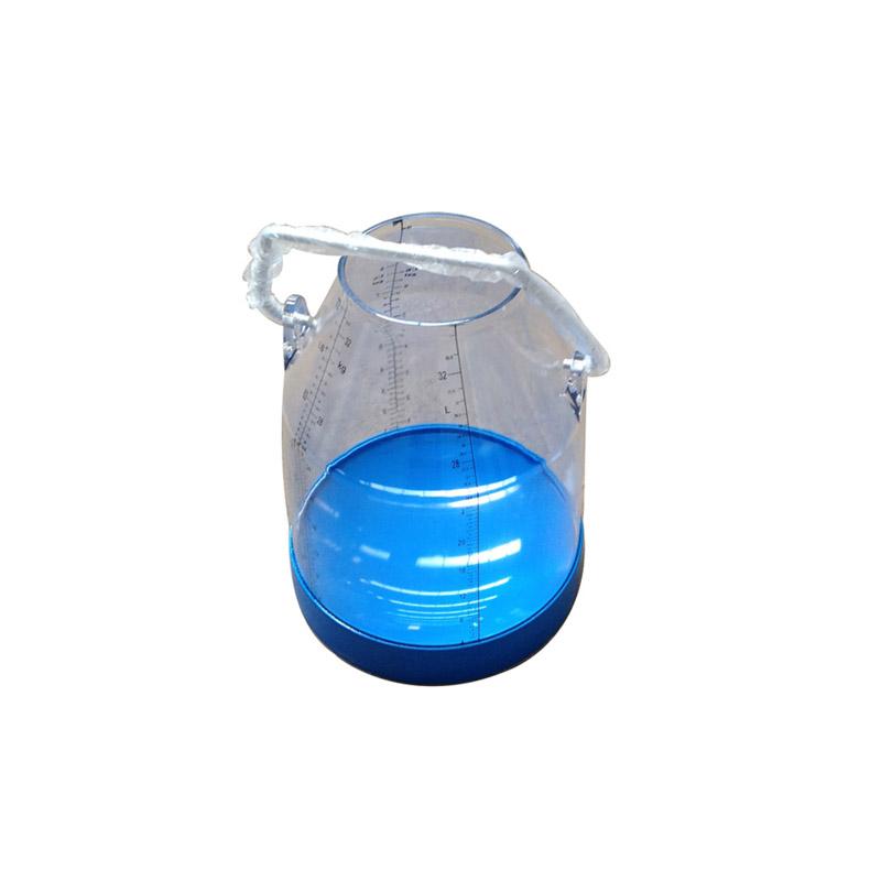 Transparent milking bucket for milking machine